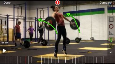 "My Coach puts my lifts through 'Coaches Eye' for technique. He likes to add educational comments..this one came with ""the only thing that would make that Snatch better would be if your wore pink Metcons."" LOL!"